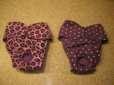 Purple Leopard Dot Panty Italian Greyhound Maltese Chinese Crested 2 Dog Diaper