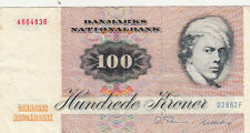 Billet banque DANEMARK DENMARK 100 KRONER 1972 836