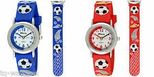 Ravel Time Teacher Watch. Kids Boys 3D Silicone Football Strap. Red or Blue