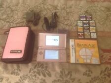 Nintendo ds lite pink w/ 12 games and case lot