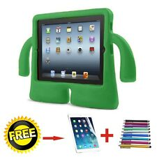 3d Kids Cute Shockproof Eva Foam Child Soft Grip Stand Cover Case for iPad for Ipad2 3 4 Green
