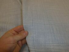 10m rolls of BLUE & WHITE - Checked Linen/Cotton Upholstery / Curtain Fabric