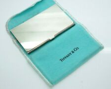 Solid Business Card Holder with Pouch Authentic Tiffany & Co. Silver Plate