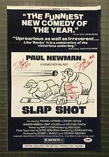 Slap Shot signed 11x17 Poster PSA Jeff Carlson, Steve Carlson, & Dave Hanson