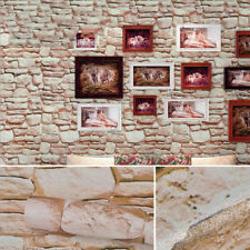 3D Self Adhesive Wallpaper 32ft Roll Embossed Stone Brick Waterproof Wall Paper