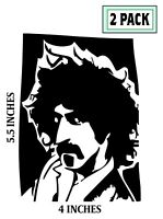 2 PACK FRANK ZAPPA Sticker Vinyl Decal 2 piece Mothers of Invention Guitarist