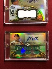 WILL MIDDLEBROOKS 2013 TOPPS TRIPLE THREADS GAME USED PATCH AUTO #/18 RED SOX