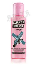 Crazy Color Semi Permanent Hair Colour Dye Cream by Renbow 100ml All Colours Blue Jade 67 Cc67