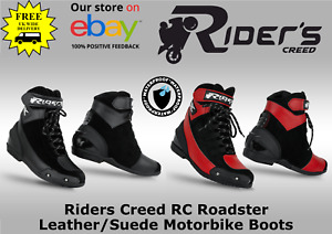 Riders Creed RC Roadster Leather/Suede Motorbike Boots - Waterproof