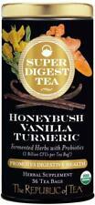 Super Digest Honeybush Vanilla Turmeric Tea by The Republic of Tea, 36 tea bag