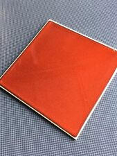 Vintage Beautiful Made In Germany 🇩🇪 Ceramic Tile Color Is Red Orange