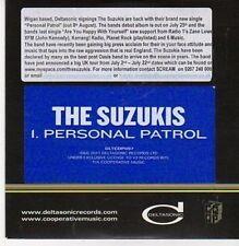 (CG9) The Suzukis, Personal Patrol - 2011 DJ CD