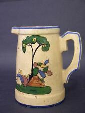 1930s Large Tlaquepaque, Mexico Pottery Pitcher, Donkey Blues Style Blue Rabbit