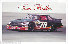 "1995 TOM BOLLES ""CHEVROLET LUMINA"" #76 NASCAR BUSCH NORTH GRAND NATION POSTCARD"