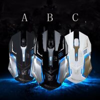 Gaming Mouse 4 Button USB Wired LED Breathing Fire Button 1600 DPI Laptop PC