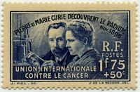 "FRANCE STAMP TIMBRE 402 "" DECOUVERTE DU RADIUM , PIERRE MARIE CURIE "" NEUF x TB"