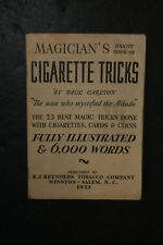 Vintage 1933 R.J. Reynolds Cigarette Magic Book Paul Carlton 23 Best Tricks