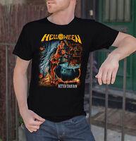 Helloween BETTER THAN RAW Men Black T-shirt Metal Band Tee Shirt