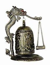 New listing Zen Art Brass Feng Shui Desktop Dragon Windbell