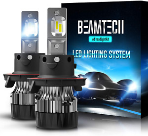 BEAMTECH H13 LED Headlight Bulbs,6500K 10000 Lumens Extremely Super Bright 9008