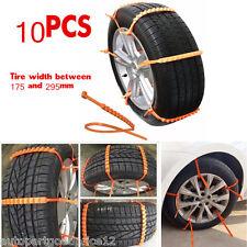 10Pcs Universal Car Truck Snow Wheel Tire Anti-skid Chains Slip Thickened Tendon