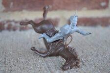 Marx Falling Horse Rider Confederate Cavalry Civil War 1/32 54MM Gray Toy