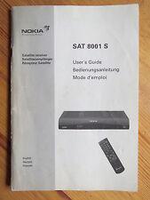 Bedienungsanleitungen + Programmliste Satelliten-Receiver Nokia SAT 8001 S