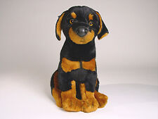 Doberman Pinscher Puppy by Piutre, Hand Made in Italy, Plush Stuffed Animal NWT