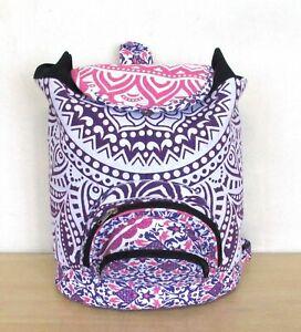 Backpack Bag Indian Cotton Hippie Mandala Unisex Pink New Men Women Fashion Bag