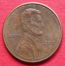 USA  VERY COLLECTABLE  SINGLE  2012D   LINCOLN ONE CENT COIN  IN A  HIGH GRADE