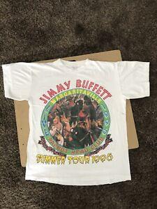 Vintage 90s Jimmy Buffett Bootleg Tour Shirt Rap Tee Short Hills Single Stitch
