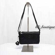NWT New Kipling KI0553 Mikaela Crossbody Shoulder Bag Polyamide Nylon Black $54