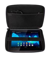 Black Impact Resistant Case For Sony Xperia Z Tab SGP321 w/ Inner Pocket & Strap