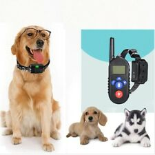 Anti Bark Dog Training Collar With Remote No Shock Waterproof Rechargeable LED