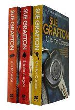 Sue Grafton A B C Murders 3 Books Alphabet Series Kinsey Millhone Alibi New