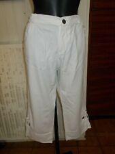 Pantalon court pantacourt coton taille élastique BLANC DU NIL T.4 44/46 19PE34