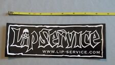NEW LIP SERVICE BUMPER STICKER Rock Cult Fashion Decal Punk Goth Collectible