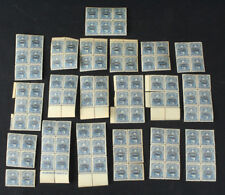 1898 Nicaragua Officials 20 Cent Blue in Blocks of 4 & 6 Mint & MNH - 98 Stamps!