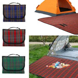 Extra Large Waterproof Picnic Blanket Rug Outdoor Camping Beach Mat 150x200cm UK