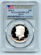 2020 S 50C Silver Kennedy Half Dollar PCGS PR70DCAM First Strike