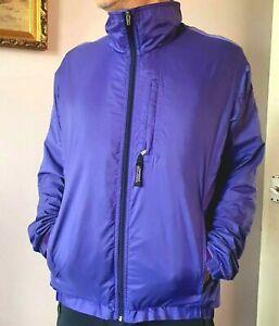 Patagonia L-42-44 VTG FZ Purple Wind Resist Hybrid fleece Running Jacket;VGC!