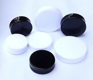 1x 22-50mm Acrylic Solid Earplug Earing Large Big Size Stretcher Tunnel Expander