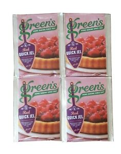 GREEN'sTwin Pack Red Coloured QUICK JEL  Jelly Glaze Flans GEL Vegetarian 4x35g