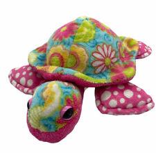 "Douglas Cuddle Toys Genevieve Pink Floral Flower Turtle Stuffed Animal Plush 11"""