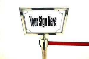 A4 Sign Holders to fit stretch barriers - Landscape Sign Holders, Queue Signs