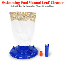 NEW Swimming Pool Leaf Eater Catcher Manual Vacuum Floor Cleaner Mesh Bag Clean