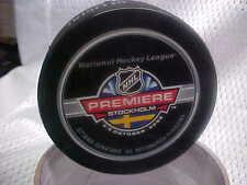 2008 NHL Premiere Stockholm Game Puck Ottawa Senators v Pittsburgh Penguins