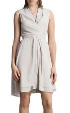 All Saints Jayda Dress In Champagne Pink Silk. Size L