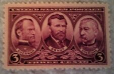 1937 Scott 787 Sherman, Grant and Sheridan one new 3 cent stamp