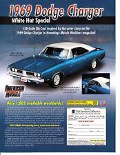 1968 Dodge Charger R//T White Miniskirt Love Triangle Original Print Car Ad